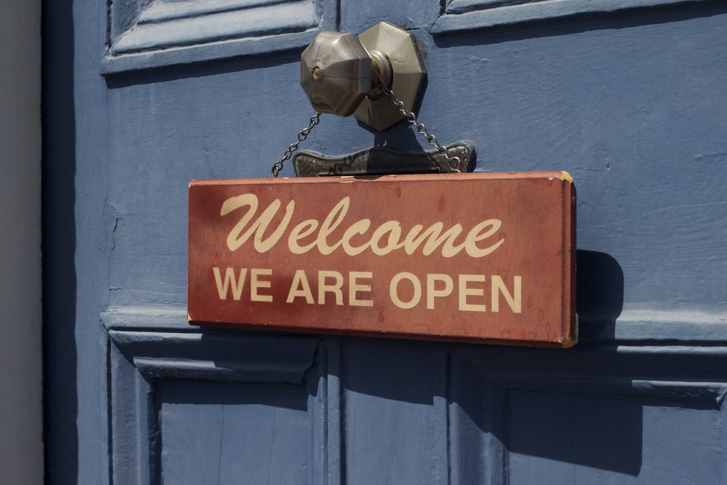 Welcome. We Are Open