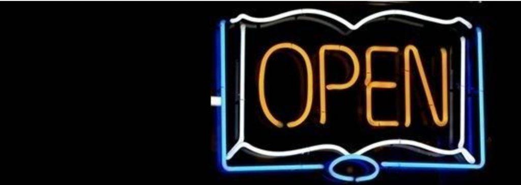 PLOS Open Access webpage header